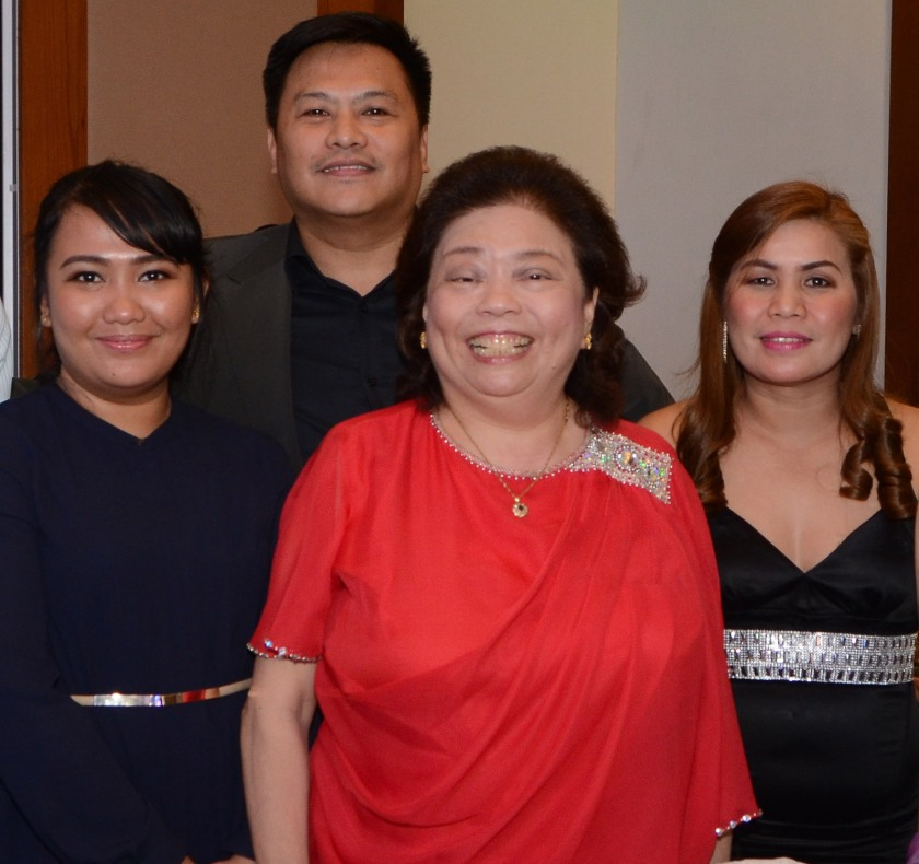 Delgado Group corporate secretary Atty. Fe Vicencio (center) with (from left) Bacolod POE Krizza Joy Lopez, HSSE manager George Operario, and Cebu plant operations executive Gigi Indangan