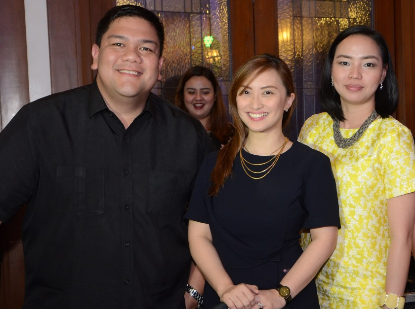 L-R: ILC marketing communications manager Marco Cruz, marketing manager Valeri Villano, and customer service manager Cess Gonzales