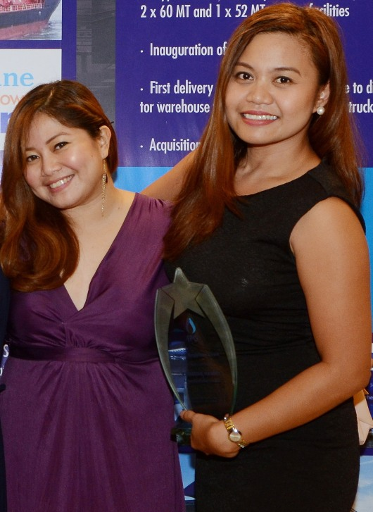 L-R: Account manager Charen Natal and ILC business excellence manager Kathy Mendez