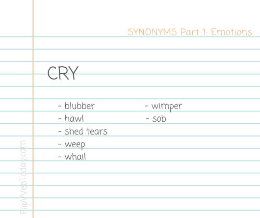 synonyms-part-1-emotions-cry