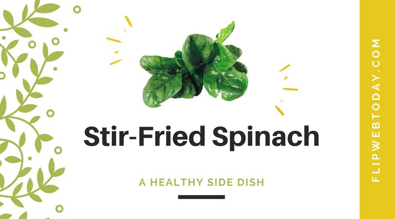 stir-fried spinach